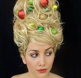 ^ Christmas tree hair