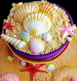 Beach lover's cake @ Cake Central