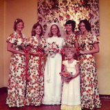 Bridesmaids with Matching Curtains