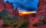 Sunset At Cathedral Rock, Sedona, Arizona