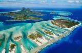 Blue barrier reef bora bora