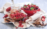 Strawberries-berries-currants-red-rolling-pin