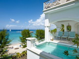 Luxury white ocean front house