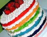 Rainbow cake by Laine Duarte