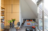 Converted attic studio