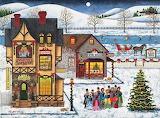 'Main Street Carolers' by Art Poulin...