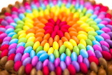 Rainbow chocolate