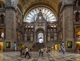 Central station, main hall, Antwerp, Belgium