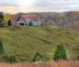 Autumn Hillside Barn