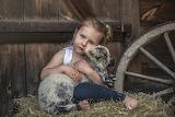 Little girl and little lamb