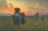 The Last Gleanings. Jules Breton