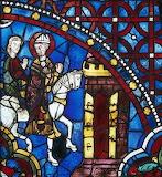 Vitrail de la cathédrale de Chartres (Eure-et-Loir)