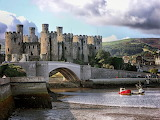 Conwy Castle On The Northern Coast of Wales
