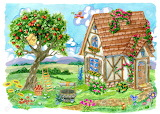 Fachwerk Cottage with Apple Tree