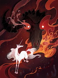 Unicorn and bull editorial illustration by shockowaffel-d6cprgp