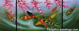 Koi fish japanese painting