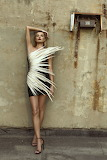 Short Feathery Cocktail Dress