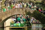 Parade Barge Under Bridge