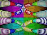 Color socks.shoes