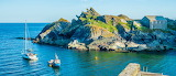 Rocky Outcrop at Polperro Harbour