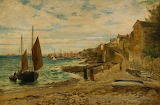 Newlyn Slip by William Croxford 1852-1926