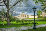 Park, trees, lantern, Moscow, alley, Russia