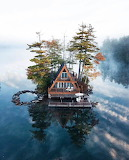 Vacation cabin on private island New Hampshire