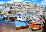 low tide at Mevagissey