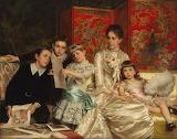 Cornelia Ward with Her Children~ MicheleGordigiani