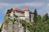 Bled Castle on the rock Slovenia