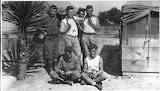 Soldiers with snake, ca. 1916, Gertrude Fitzgerald photographs