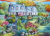 cottage garden, Suzanne Claveau