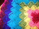 Rainbow crochet-knit