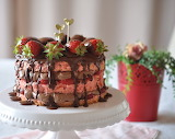 Strawberry Nutella cake