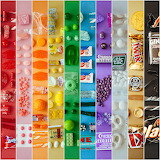 Rainbow Collage of Candy