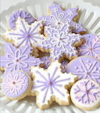 fancy purple cookies