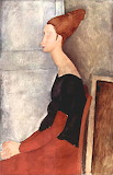 Amedeo Modigliani, Jeanne with dark clothes