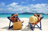 Girl, summer, beach, sky, sea, landscape, hat, nature, woman, wa