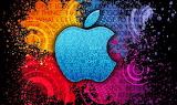 Apple-Colorful-Background-Creative-Logo