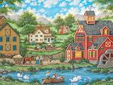 Swan Pond by Bonnie White...