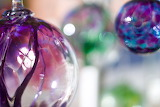 Purple Blue Ornaments