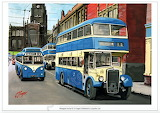 Old Blue Buses