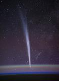 """Space astrominocal """"Comet Lovejoy"""" ISS """"Dan Burbank"""""""