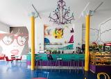 colorful retro interior