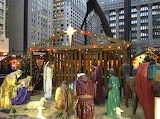 Nativity Scene in Downtown Chicago