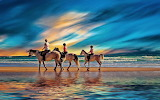 People riding on the beach-thumb-image