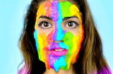 Rainbow Slime Face Mask