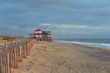 Sunrise pink beach house Kitty Hawk North Carolina