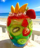 Bright and Colorful Drink