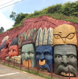 Cali Colombia Hill Carving